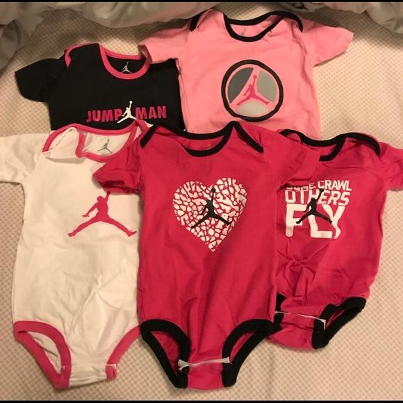 Nike Jumpman Baby Girl Onesies